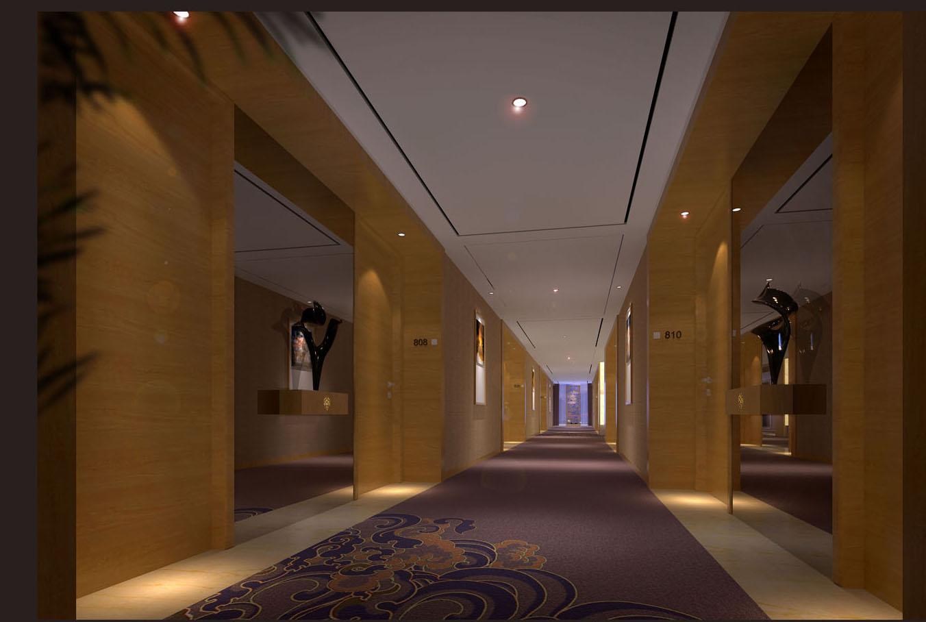 走廊电梯厅效果图 - 图片库