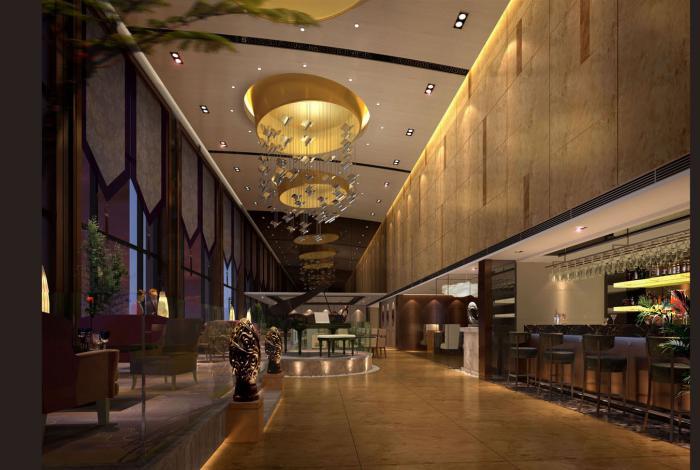 走廊电梯厅效果图